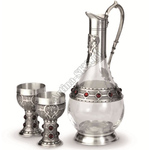 "Artina SKS Набор для вина ""Рубин"" (графин + 2 бокала) 13116 (олово 95%)"