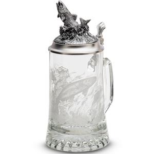 "Artina SKS Кружка для пива ""Рыба"" 93403 (стекло и олово 95%)"