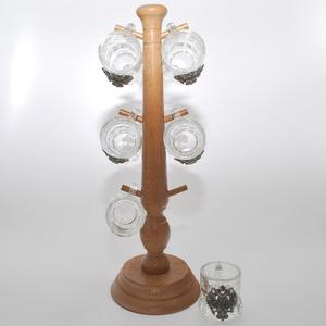 Artina SKS Набор стопок на деревянной подставке 7 предм. 16193 (олово 95%)