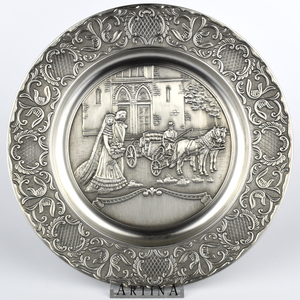 Artina SKS Тарелка декоративная СВАДЬБА 13642 (олово 95%)