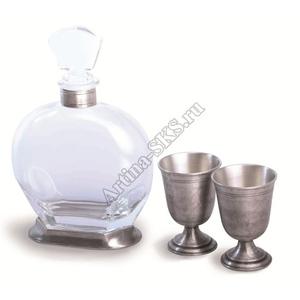 """Artina SKS Набор для напитков """"Классик"""" 3 предм. 60394А (олово 95%)"""