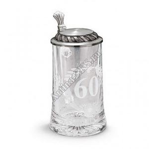 "Artina SKS Кружка для пива ""Юбилей 60"" 93373 (олово 95% и стекло)"